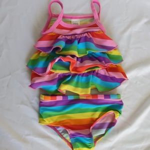 Carter's Rainbow Ruffle Two Piece Swimsuit, 12 mo